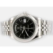 Replique Rolex Day-Date automatique avec cadran noir-Stick Marquage - Attractive montre Rolex Day Date 22588 pour vous