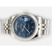 Replique Rolex Day-Date automatique avec cadran bleu-romaine de marquage - Attractive montre Rolex Day Date 22586 pour vous
