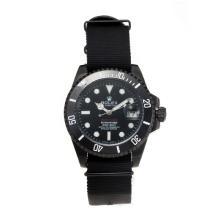 Replique Rolex Submariner automatique Boîtier PVD ProHunter lunette en céramique avec cadran noir - Attractive montre Rolex Submariner 24966 pour vous