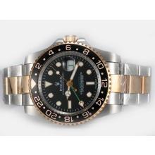 Replique Rolex GMT-Master II Swiss ETA 2836 Mouvement deux tons avec la version Bracelet Black Dial-Oyster - Attractive Rolex GMT Regarder pour vous 24391