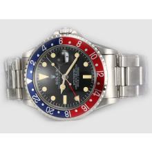 Replique Rolex GMT-Master Ref 1675 Vintage Edition Rouge / Bleu Lunette-même châssis que la version suisse ETA - Attractive Rolex GMT Regarder pour vous 24389
