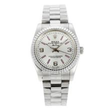 Replique Rolex Air-King Oyster Perpetual automatique avec cadran blanc-Nouvelle Version - Attractive Rolex Air King Montre pour vous 20036