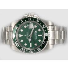 Replique Rolex GMT-Master II Swiss ETA 2836 Mouvement avec cadran et lunette verte - Attractive Rolex GMT Regarder pour vous 24388