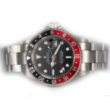 Replique Rolex GMT-Master II automatique avec Rouge / Noir Lunette-Version mise à jour bi-directionnel lunette - Attractive Rolex GMT Regarder pour vous 24387