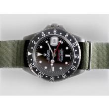 Replique Rolex GMT-Master II Swiss ETA 2836 Mouvement PVD affaire avec Nylon Strap-Pro Edition spéciale Hunter Green - Attractive Rolex GMT Regarder pour vous 24385