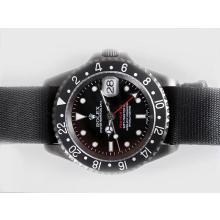 Replique Rolex GMT-Master II Swiss ETA 2836 Mouvement PVD affaire avec Nylon Strap-Pro Edition spéciale Hunter Black - Attractive Rolex GMT Regarder pour vous 24384