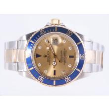 Replique Rolex Submariner suisse ETA 2836 Mouvement avec cadran deux tons d'or - Attractive montre Rolex Submariner 25188 pour vous
