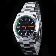 Replique Rolex Milgauss automatique avec Teinté Vert Saphir-même Structure Comme l'ETA-version Nouvelle version 39mm - Attractive Rolex Milgauss Montre pour vous 24837