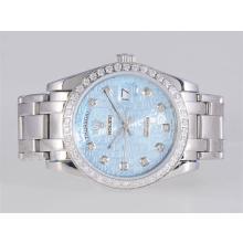 Replique Rolex Masterpiece automatique lunette Diamant Marquage et avec cadran bleu ordinateur - Attractive montre Rolex Masterpiece pour vous 24683