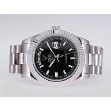 Replique Rolex Day-Date II automatique avec cadran noir-41mm nouvelle version - Attractive Date Rolex Day II montre pour vous 23023