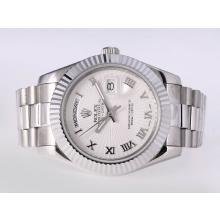 Replique Rolex Day-Date II automatique romaine de marquage avec cadran blanc-41mm nouvelle version - Attractive Rolex Day Date II Montre pour vous 23015