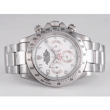 Replique Rolex Daytona-Chronographe Cadran Blanc - Nombre de marquage - Attractive Rolex Daytona Montre pour vous 23885