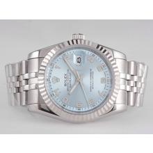 Replique Rolex Datejust automatique avec cadran bleu-Nombre de marquage - Attractive montre Rolex DateJust pour vous 21677