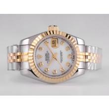 Replique Rolex Datejust Automatique Diamant Marquage Two Tone avec cadran MOP - Attractive montre Rolex DateJust pour vous 21676