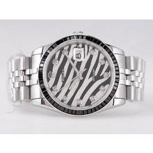 Replique Rolex Datejust Swiss ETA 2836 Mouvement avec rubis noir Dial lunette diamants huppé - Attractive montre Rolex DateJust pour vous 21675