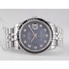 Replique Rolex Datejust Swiss ETA 2836 Mouvement avec rubis noir Dial MOP Lunette-Noir - Attractive montre Rolex DateJust pour vous 21671