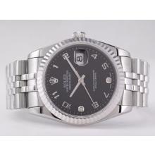Replique Rolex Datejust Swiss ETA 2836 Mouvement avec cadran noir-Nombre de marquage - Attractive montre Rolex DateJust pour vous 21576