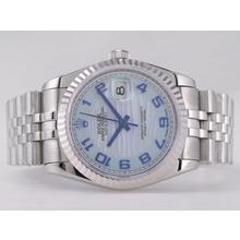 Replique Rolex Datejust Swiss ETA 2836 Mouvement avec cadran bleu-ondes Nombre de marquage - Attractive montre Rolex DateJust pour vous 21574