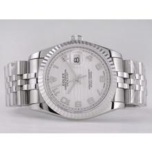 Replique Rolex Datejust Swiss ETA 2836 Mouvement avec cadran blanc-ondes Nombre de marquage - Attractive montre Rolex DateJust pour vous 21573