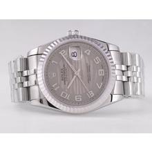 Replique Rolex Datejust Swiss ETA 2836 Mouvement avec cadran gris-ondes Nombre de marquage - Attractive montre Rolex DateJust pour vous 21572