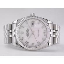 Replique Rolex Datejust Swiss ETA 2836 Mouvement avec MOP Dial-Marquage Numéro - Attractive montre Rolex DateJust pour vous 21571
