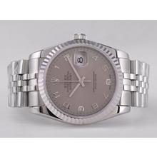 Replique Rolex Datejust Swiss ETA 2836 Mouvement avec cadran gris-Nombre de marquage - Attractive montre Rolex DateJust pour vous 21570