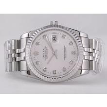 Replique Rolex Datejust Swiss ETA 2836 Mouvement avec cadran argenté-Diamant Marquage - Attractive montre Rolex DateJust pour vous 21568