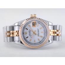 Replique Rolex Datejust Swiss ETA 2671 Mouvement deux tons avec MOP Dial-Stick Taille Dame Marquage - Montre Rolex DateJust attrayant pour vous 21481