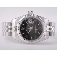 Replique Rolex Datejust Swiss ETA 2671 Mouvement avec Lady Black Taille Dial-Stick/Number Marquage - Attractive montre Rolex DateJust pour vous 21414