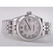 Replique Rolex Datejust Swiss ETA 2671 Mouvement avec cadran blanc-romaine Taille Dame Marquage - Attractive montre Rolex DateJust pour vous 21413