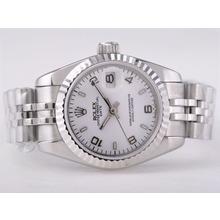 Replique Rolex Datejust Swiss ETA 2671 Mouvement avec Dial-Stick/Number Taille Dame Blanche Marquage - Attractive montre Rolex DateJust pour vous 21412