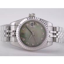 Replique Rolex Datejust Swiss ETA 2671 Mouvement avec cadran vert RdP-Diamond Taille Dame Marquage - Montre Rolex DateJust attrayant pour vous 21411
