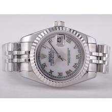 Replique Rolex Datejust Swiss ETA 2671 Mouvement avec cadran MOP Taille-romaine marquage Lady - Montre Rolex DateJust attrayant pour vous 21410