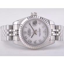 Replique Rolex Datejust Swiss ETA 2671 Mouvement avec MOP Dial-Marquage Nombre Taille-Dame - Attractive montre Rolex DateJust pour vous 21408