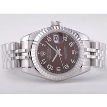 Replique Rolex Datejust Swiss ETA 2671 Mouvement avec cadran brun-Nombre Taille Dame Marquage - Montre Rolex DateJust attrayant pour vous 21407