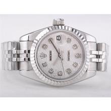 Replique Rolex Datejust Swiss ETA 2671 Mouvement avec cadran ordinateur-Diamond Taille Dame Marquage - Attractive montre Rolex DateJust pour vous 21385