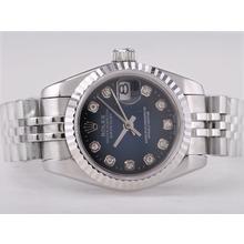 Replique Rolex Datejust Swiss ETA 2671 Mouvement avec cadran bleu diamant-Taille-Dame Marquage - Attractive montre Rolex DateJust pour vous 21384