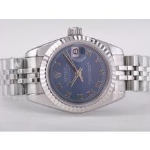 Replique Rolex Datejust Swiss ETA 2671 Mouvement avec cadran bleu-romaine Taille Dame Marquage - Attractive montre Rolex DateJust pour vous 21382