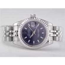Replique Rolex Datejust Swiss ETA 2671 Mouvement avec cadran bleu Bâton-Taille-Dame Marquage - Montre Rolex DateJust attrayant pour vous 21381