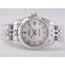 Replique Rolex Datejust Swiss ETA 2671 Mouvement avec cadran blanc-Taille-Dame Nombre de marquage - Montre Rolex DateJust attrayant pour vous 21380