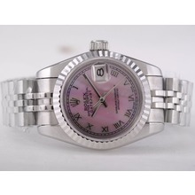 Replique Rolex Datejust Swiss ETA 2671 Mouvement avec cadran rose RdP-romaine Taille Dame Marquage - Montre Rolex DateJust attrayant pour vous 21379