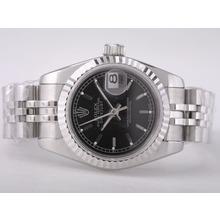Replique Rolex Datejust Swiss ETA 2671 Mouvement avec cadran noir-Stick Taille Dame Marquage - Attractive montre Rolex DateJust pour vous 21378