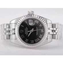 Replique Rolex Datejust Swiss ETA 2671 Mouvement avec cadran noir-romaine Taille Dame Marquage - Attractive montre Rolex DateJust pour vous 21376