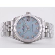 Replique Rolex Datejust Swiss ETA 2836 Mouvement avec cadran bleu RdP-Mid Size - Regarder Rolex DateJust attrayant pour vous 21278