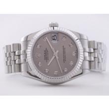 Replique Rolex Datejust Swiss ETA 2836 Mouvement avec cadran gris-mi Taille - Attractive montre Rolex DateJust pour vous 21277