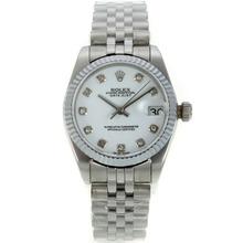 Replique Rolex Datejust Swiss ETA 2836 Mouvement avec cadran blanc-Mid Size - Belle Montre Rolex DateJust pour vous 21275