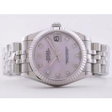 Replique Rolex Datejust Swiss ETA 2836 Mouvement avec cadran rose RdP-Mid Size - Regarder Rolex DateJust attrayant pour vous 21273