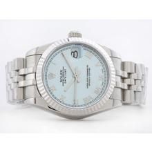 Replique Rolex Datejust Swiss ETA 2836 avec cadran bleu romaine Marquage Mid-Size - Belle Montre Rolex DateJust pour vous 21162
