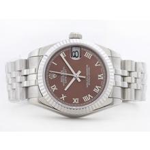 Replique Rolex Datejust Swiss ETA 2836 cadran brun avec Roman Marquage Mid-Size - Belle Montre Rolex DateJust pour vous 21161
