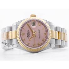 Replique Rolex Datejust Swiss ETA 2836 deux tons avec cadran champagne Diamant Marquage-Mid Size - Belle Montre Rolex DateJust pour vous 21061